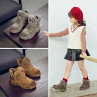 女童冬季男童棉鞋儿童公主雪地靴