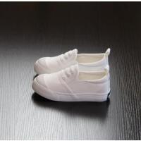 儿童帆布鞋男童一脚蹬懒人童鞋女童布鞋春秋儿童小白鞋潮