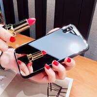 补妆自拍镜子玻璃苹果x手机壳iphone6s潮牌7p新款8plus挂绳女 苹果x 镜面 送挂绳