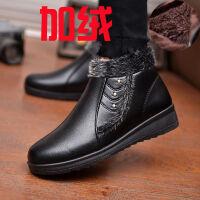 ����鞋冬季奶奶棉鞋老人中年加�q保暖皮鞋短靴中老年女鞋棉皮靴子