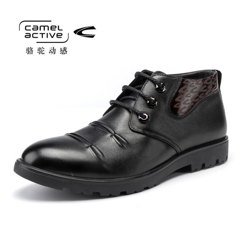 Camel Active/骆驼动感冬季新款正品真皮商务休闲男靴皮靴男鞋