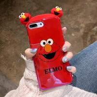 卡通ins芝麻街iphone6s手机壳潮牌xs max网红个性ins风7p超萌可爱8plus情侣8抗