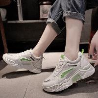 运动鞋2019新款女韩版秋季低帮鞋女透气百搭女运动休闲鞋老爹鞋女