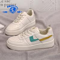 环球2020春季新款百搭断钩小白鞋女鞋子空军一号潮流休闲平底板鞋