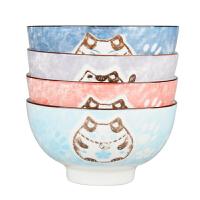雅诚德饭碗碟套装家用网红可爱饭碗筷组合个性盘碗陶瓷器餐具套装kb6