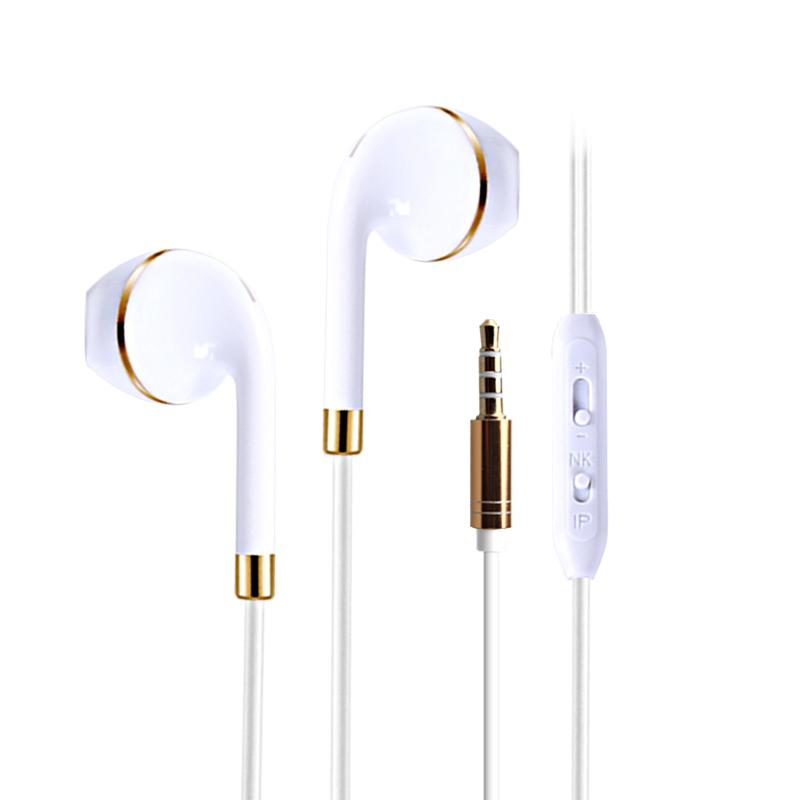 全兼容通用手机线控耳机入耳耳塞式带话筒 重低音电脑耳麦 环绕立体声 抗氧化插头