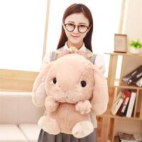 韩版卡通垂耳兔双肩包可爱萌小白兔子儿童背包宝宝毛绒绒包包女孩