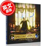 现货 哈利波特电影剪贴簿 魔法与咒语 英文原版 精装 哈利波特电影周边书 Harry Potter: Spells a
