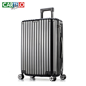 卡帝乐铝框拉杆箱万向轮旅行箱男28寸学生密码箱行李箱女韩版