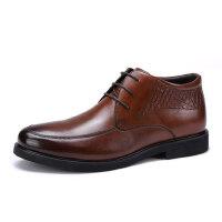 骆驼牌男鞋 冬季新品商务休闲靴子舒适系带男士皮靴