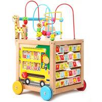 木质儿童学步车 宝宝婴儿助步车 多功能调速木制 益智幼教玩具