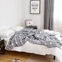 纯棉纱布单人双人毛巾被 午睡毯休闲毯空调毯 毛毯盖毯 浅灰色 三层进口风车 200cm x 230cm