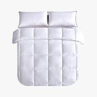 当当优品贡缎冬被 全棉立体超细羽丝绒被芯200x230cm双人被子 白色