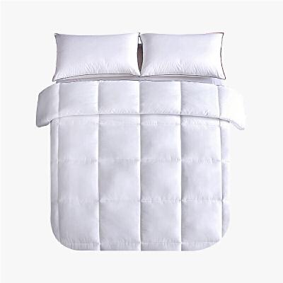 当当优品贡缎冬被 全棉立体超细羽丝绒被芯200x230cm双人被子 白色当当自营