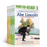 美国著名人物的童年系列12册分级读物Ready to Read Childhood of Famous America