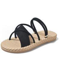 35-43码 大码女鞋两穿凉鞋夏软底外穿凉拖百搭平底海边沙滩鞋