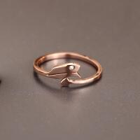 包邮简约玫瑰金十二星座之射手座 情侣闺蜜戒指