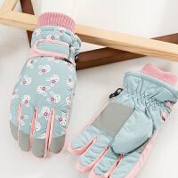 韩版冬季女童宝宝户外保暖滑雪手套中大男童冬天女孩可爱儿童防水