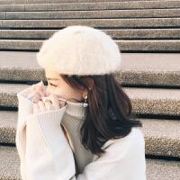 雪梨同款秋冬韩版女士贝雷帽文艺简约蓓蕾帽韩国复古画家帽休闲帽 M(56-58cm)