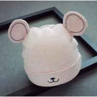 新生儿0-4个月帽子胎帽耳朵婴儿帽秋冬宝宝套头帽子