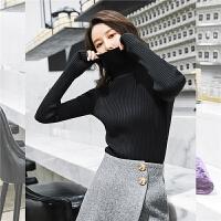 七格格针织衫长袖秋装女2018新款慵懒修身上衣韩版百搭打底衫冬季