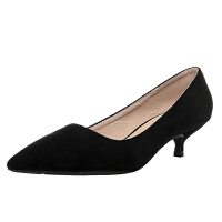 职业高跟鞋女2019新款细跟3厘米小跟鞋舒适工作鞋女黑色低跟单鞋夏季百搭鞋
