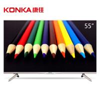 康佳(KONKA)M55U 55英寸 18核双64位真4K超高清智能平板LED液晶电视(金色)