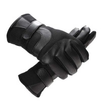 男士皮手套冬季防风防滑保暖加绒户外骑行骑车摩托车手套冬天