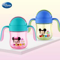 迪士尼儿童学饮杯 宝宝吸管tritan饮水杯 婴幼儿防摔防漏塑料杯