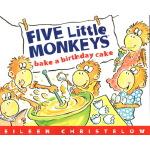 Five Little Monkeys Bake a Birthday Cake 五只小猴子做蛋糕 英文原版绘本 廖彩
