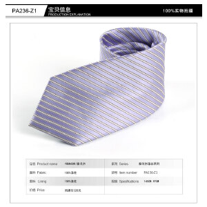 雅戈尔男士商务职业西装领带正装婚庆 涤丝领带紫色系列PA241-Z1 PA236-Z1