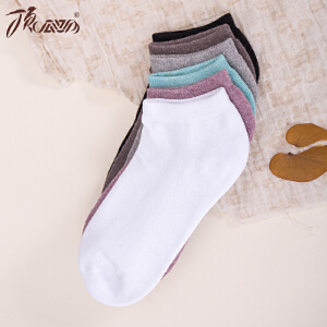 顶瓜瓜袜子女秋冬纯色棉质加厚毛巾袜女士短袜6双装