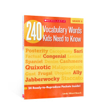 英文原版进口 240 Vocabulary Words Kids Need to Know: Grade 6 孩子需要