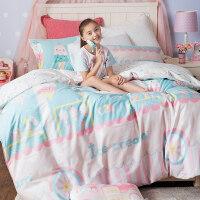 �和�床上用品少女�棉四件套全棉女�W生宿舍被套床�翁准� 夏日冰淇凌 四件套