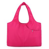 春款大容量旅游外出布包女包轻便防水尼龙布包单肩手提多兜妈咪包