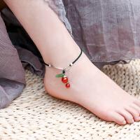 脚链女性感足链吊坠纯银脚踝链复古民族风
