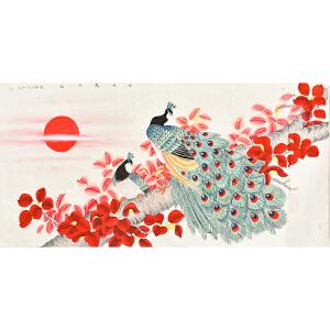 中国书画研究会会员 唐晓静130 X 66CM花鸟画 gh05292