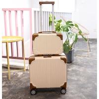 小型拉杆箱子迷你密码箱包18旅行箱小清新17 16寸行李箱女男登机箱 母子套 18寸(加容加固设计)
