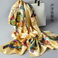 杭州春秋季丝巾女围巾秋冬季长款披肩