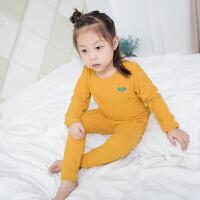 2018男童睡衣秋冬装小童长袖儿童家居服加厚小孩宝宝保暖内衣套装