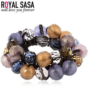 皇家莎莎RoyalSaSa亚克力大发绳 韩国头花发圈手工橡皮筋头绳 新款头饰手链两用