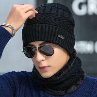 帽子男士冬季毛线帽针织套头帽加绒保暖冬天帽青年棉帽