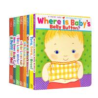 【全店300减100】英文原版绘本Karen Katz 凯伦卡茨系列8册Where Is Baby's Belly Bu