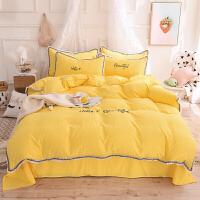 ins风床上四件套网红款纯棉棉少女心公主风蕾丝水洗棉床单被套 2.0m床-被套2.2x2.4m四件套 床单款