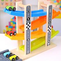 儿童小汽车玩具宝宝惯性滑翔轨道车回力耐摔-