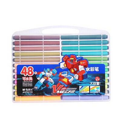 水彩笔晨光文具儿童水彩笔学生可水洗彩笔三角形12/24/36/48色盒装