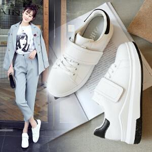 ZHR2018春季内增高小白鞋女2017新款韩版厚底女鞋百搭真皮休闲鞋单鞋G113