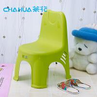 茶花卡通色简约时尚椅凳幼儿园靠背椅子儿童凳婴儿餐椅08531K小孩塑料卡通凳幼儿园靠背椅子儿童凳婴儿餐椅
