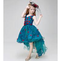 新款时尚儿童礼服女童演出服 圣诞节公主裙婚纱礼服拖尾