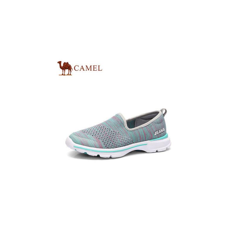 骆驼牌 女鞋 时尚女单鞋透气平底乐福女运动鞋休闲平跟单鞋
